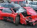 """Bakıda """"Ferrari"""" qəzaya düşdü - YENİLƏNİB - FOTO: HADİSƏ"""