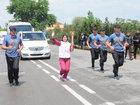 Birinci Avropa Oyunlarının məşəli Şirvanda - FOTO: İdman
