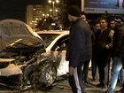 Paytaxtda bacı-qardaşı vuran maşın daha sonra digər avtomobilə çırpılıb - FOTO: HADİSƏ