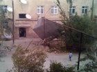 Güclü külək Sumqayıtda binanın damını uçurtdu - FOTO: HADİSƏ
