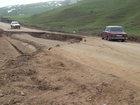 Sürüşmə yolu dağıtdı - YENİLƏNİB - FOTO: HADİSƏ