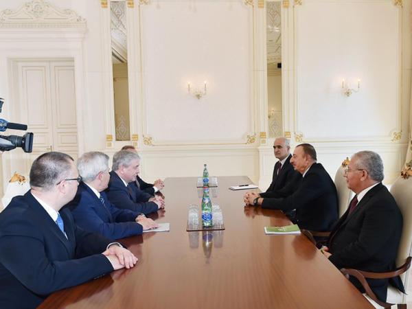 Prezident İlham Əliyev Belarusun Baş nazirinin müavinini qəbul edib - FOTO