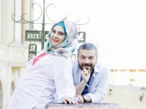 Azərbaycanlı rejissor hamilə həyat yoldaşı ilə - FOTO