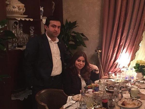 Nigar İbrahimova yoldaşı ilə şam yeməyində - FOTO