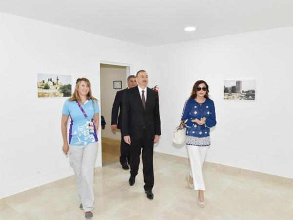 Prezident və xanımı Atletlər və Media kəndlərinin açılışlarında - YENİLƏNİB - FOTO