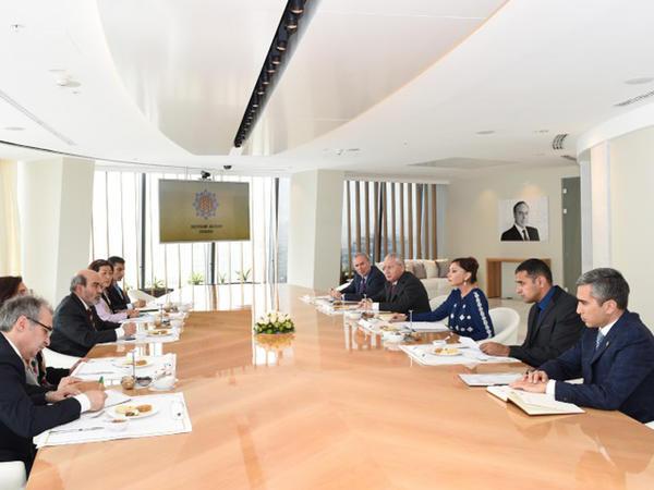Mehriban Əliyeva FAO-nun baş direktorunun rəhbərlik etdiyi nümayəndə heyəti ilə görüşdü - FOTO