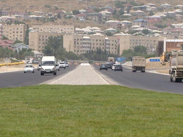 Hövsan yolu yenidən quruldu - VİDEO - FOTO