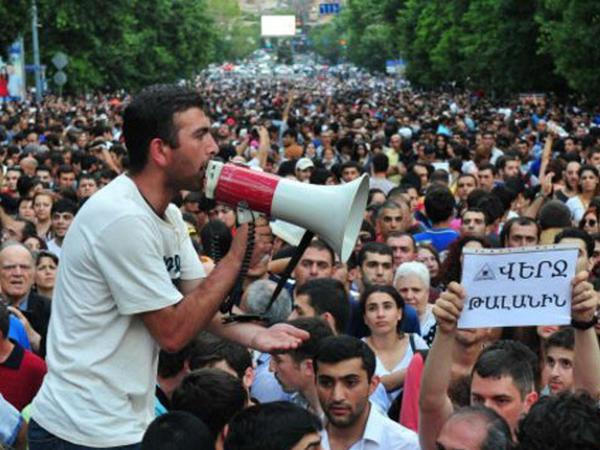 Nümayişçilər Yerevanın mərkəzi küçələrində yürümək istəyirlər
