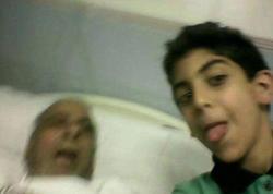 Can vermiş babası ilə selfi çəkdirdi - FOTO