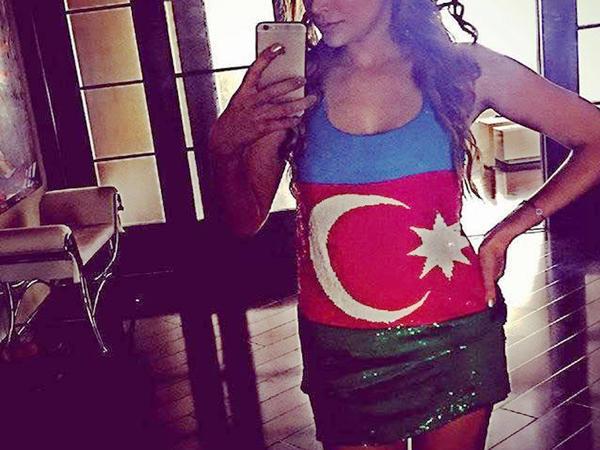 Nikki bayrağımızı əyninə geydi, 3 KVN-çi azarkeşlik etdi - İnstagram FOTOları