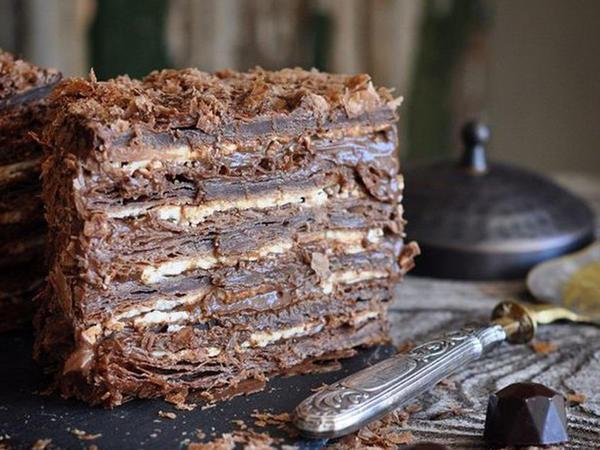 "Şokoladlı ""Napoleon"" tortu"