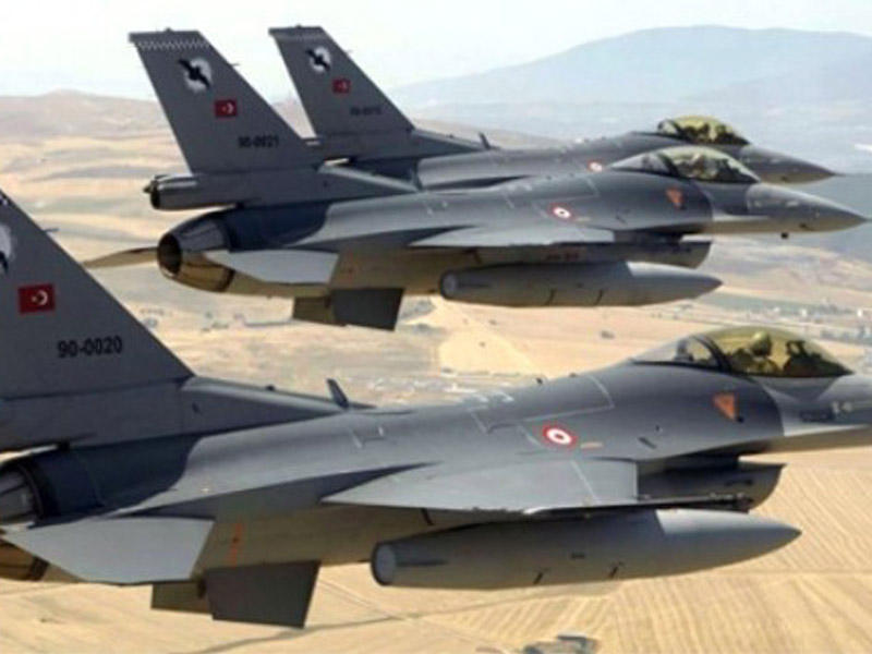 Türkiyə təyyarələri PKK mövqələrini bombaladı