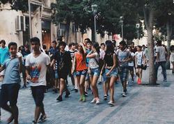 Bakıda şortiklilərin yürüşü - FOTO