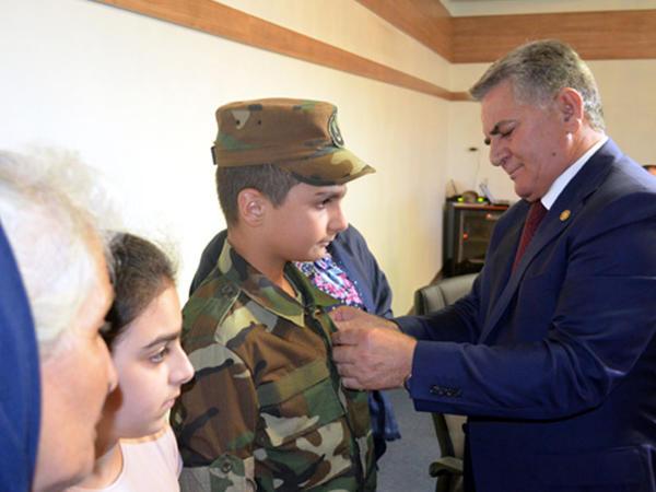 Şəhid ailələrinə medallar təqdim edild  - FOTO