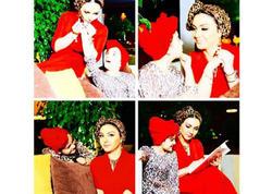 Teleaparıcı Samirə qızıyla qırmızıya büründü - FOTO
