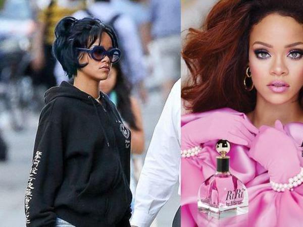Rihannanın yeni saç düzümü və parfümü - FOTO