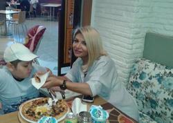 Afaq Gəncəli oğlu ilə - FOTO
