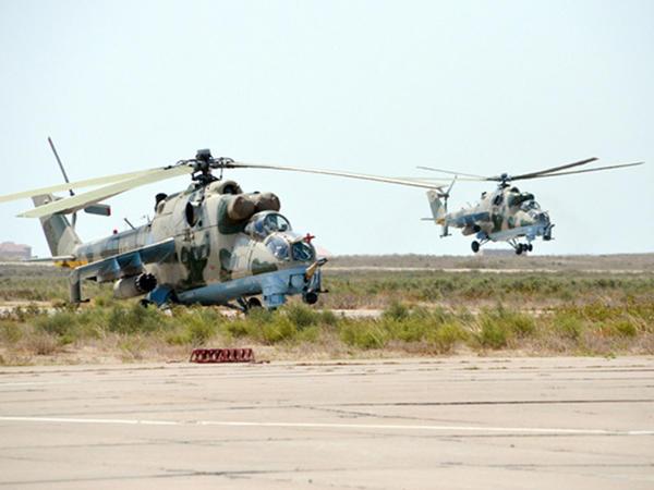Təlimlərə döyüş helikopterləri də qoşuldu - VİDEO - FOTO