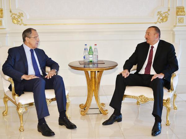Prezident İlham Əliyev Sergey Lavrovu qəbul edib - FOTO