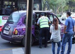 Bakıda yol polisi motosikleti cərimə meydançasına taksi ilə apardı