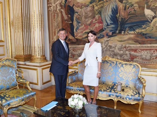 Mehriban Əliyeva Fransa Prezidenti Administrasiyasının baş katibi ilə görüşüb - FOTO