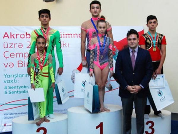 Akrobatika gimnastikası üzrə 22-ci Bakı çempionatı başa çatdı - FOTO