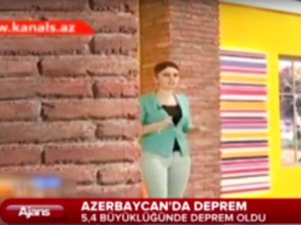 Azərbaycanda baş verən zəlzələ Türkiyə mediasında - VİDEO