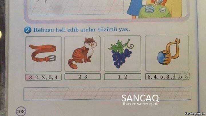 """Azərbaycan təhsilindəki şok: """"Ala, dibilsən?"""" - FOTO"""