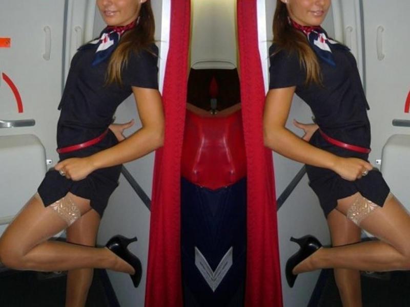 Секс видео стюардесса