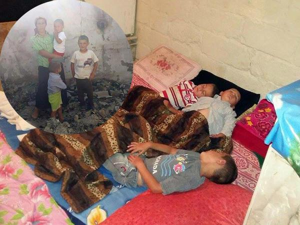 Ata evi külə döndərdi, ana və balalar təndirxanaya sığındılar - VİDEO - FOTO