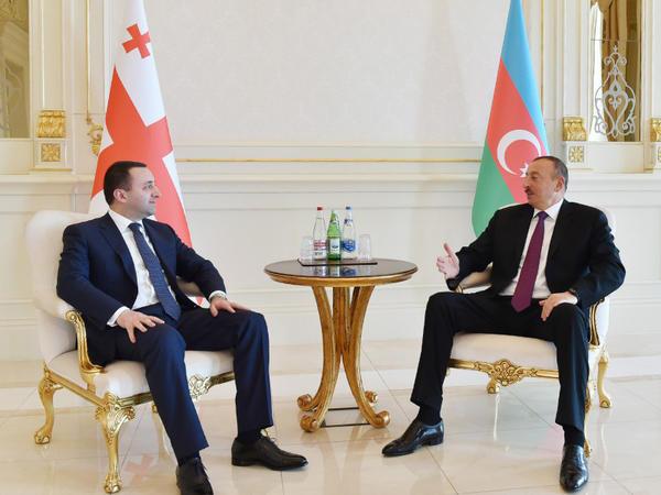 Prezident İlham Əliyev Gürcüstanın baş nazirini qəbul edib - YENİLƏNİB - FOTO