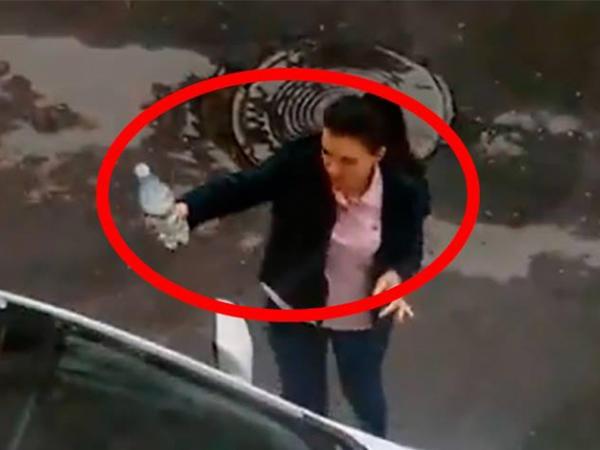 Bakıda qadın sürücü internet ulduzuna çevrildi - VİDEO