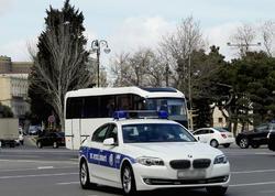 Bakıda yol polisinin qayda pozuntusu - VİDEO