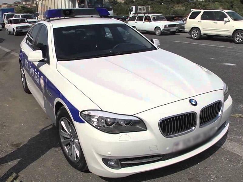 Sürücü ilə yol polisi arasında mübahisə: