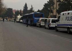Polis idarəsinə əlavə qüvvələr cəlb olundu - VİDEO - FOTO