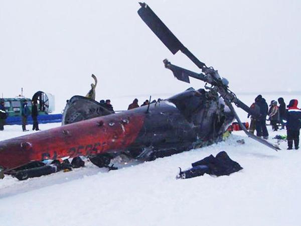 Rusiyada helikopter faciəsinin FOTOları
