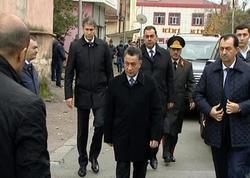 Ramil Usubov Nardaranda həlak olmuş polisin yas mərasimində - FOTO