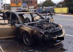 """Bakıda """"Volvo"""" yandı, """"Bentley"""" əridi"""
