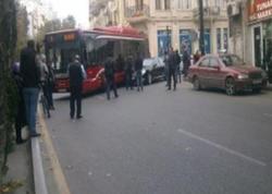 Bakıda avtomobil sərnişin avtobusu ilə toqquşdu