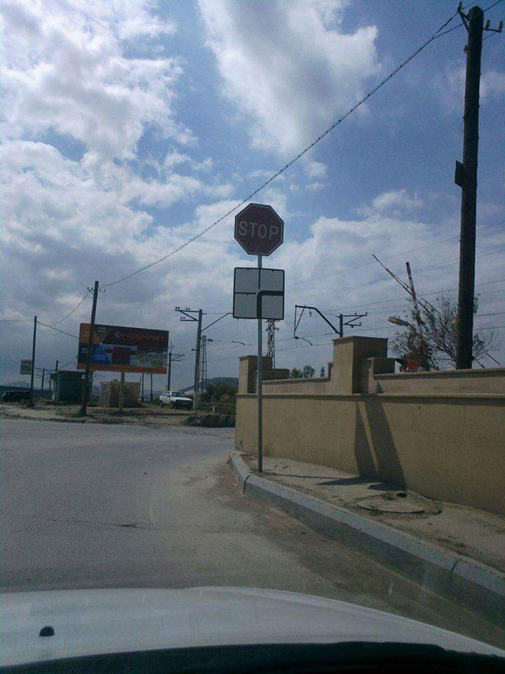 Bakıda yersiz yol nişanları - FOTO