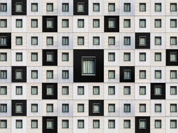 Binaların pikseel fasadları  - FOTO