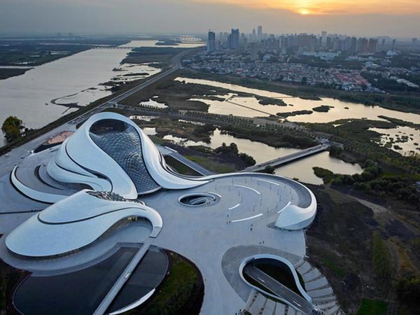 Çin şəhərində opera teatrı - FOTO