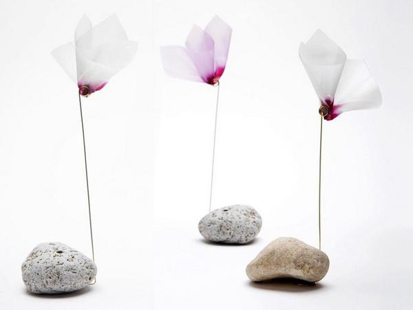 Kağızdan dekorativ çiçəklər - FOTO