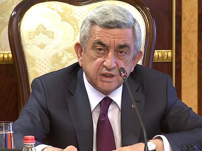 """Sarkisyan bağırdı: """"Azərbaycanlılar Qarabağı alacaqlar"""""""