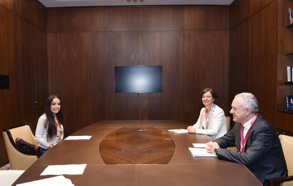 Heydər Əliyev Fondunun vitse-prezidenti Leyla Əliyeva FAO-nun rəsmiləri ilə ...