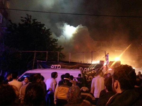 İstanbulda güclü yanğın olub