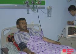 Ermənilərin atəşi nəticəsində yaralanan Ağdam sakini Bakıya köçürülür - FOTO