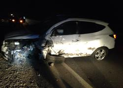 """""""Hyundai"""" ix35 qəzaya uğradı, 4 aylıq körpə və 3 yaşlı qız yaralandılar"""
