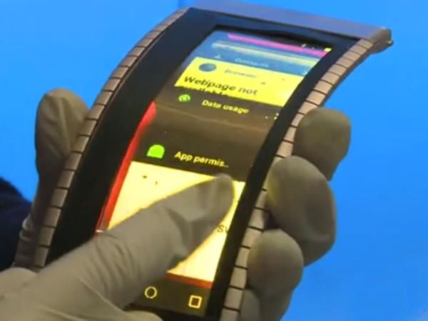Elastik smartfon göstərildi - VİDEO