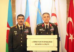Zakir Həsənov türk jandarm komandanı ilə görüşdü - FOTO